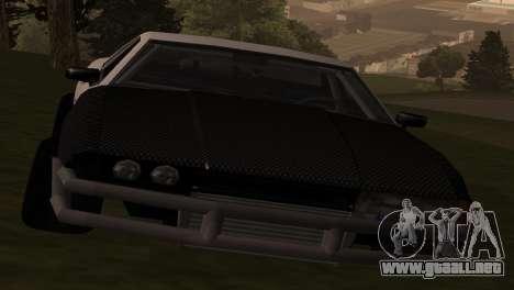 Elegy OriginalDrift para GTA San Andreas vista posterior izquierda