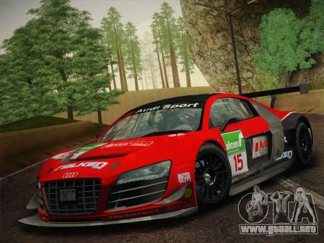Audi R8 LMS Ultra Old Vinyls para el motor de GTA San Andreas