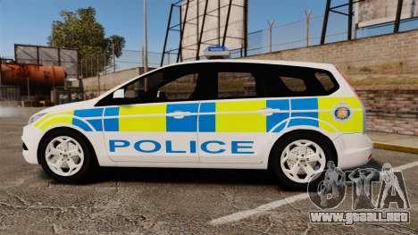 Ford Focus Estate Essex Police [ELS] para GTA 4 left