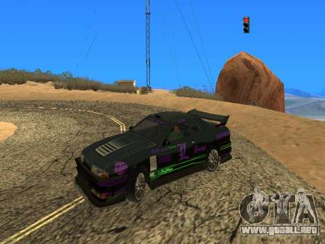 Equipo de Luni vinilos para Elegy para GTA San Andreas vista posterior izquierda