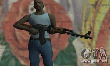 AK47 de L4D para GTA San Andreas tercera pantalla