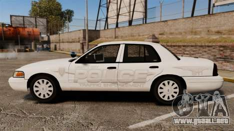 Ford Crown Victoria Traffic Enforcement [ELS] para GTA 4 left