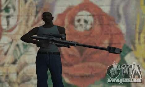 M82A1 Barret .50cal para GTA San Andreas tercera pantalla