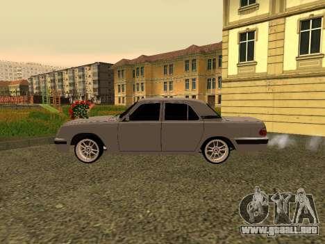GAZ 31105 Volga para GTA San Andreas vista posterior izquierda