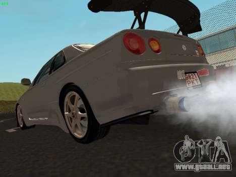 Nissan Skyline BNR34 para GTA San Andreas left