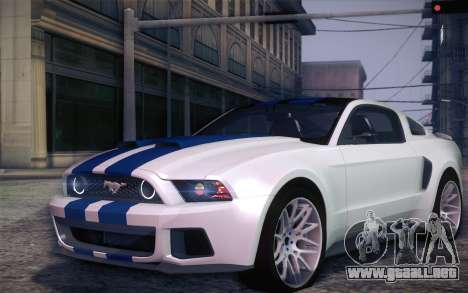 Ford Mustang 2013 - Need For Speed Movie Edition para GTA San Andreas left