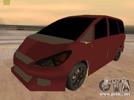 Toyota Estima 2wd para visión interna GTA San Andreas