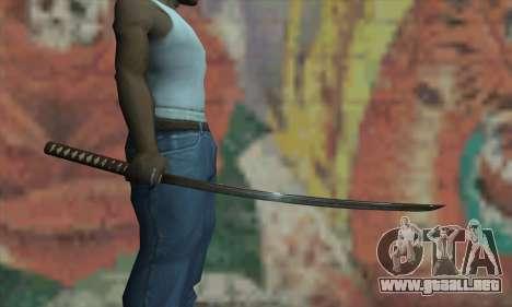 Samurai katana para GTA San Andreas tercera pantalla