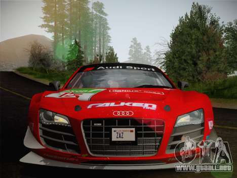 Audi R8 LMS Ultra Old Vinyls para la vista superior GTA San Andreas