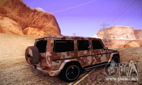 Mercedes Benz G65 Army Style para GTA San Andreas vista posterior izquierda
