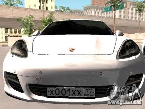 Porsche Panamera 2011 para GTA San Andreas vista hacia atrás