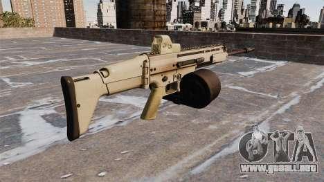 Fusil automático FN SCAR-H LMG para GTA 4 segundos de pantalla