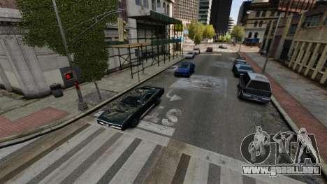 El tráfico real para GTA 4 adelante de pantalla