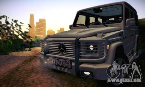 Mercedes-Benz G500 para vista inferior GTA San Andreas