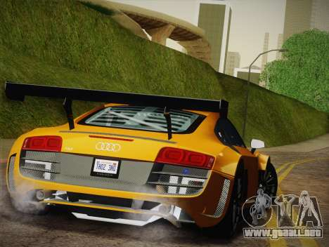 Audi R8 LMS Ultra W-Racing Team Vinyls para vista inferior GTA San Andreas