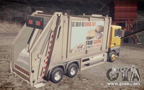MAN TGS 18.320 Trash Truck para GTA San Andreas left