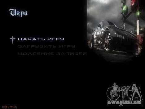Menú de NFS para GTA San Andreas sexta pantalla
