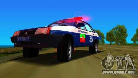 VAZ 21099 milicia para GTA Vice City vista desde abajo