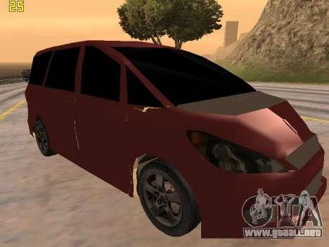 Toyota Estima 2wd para GTA San Andreas vista posterior izquierda