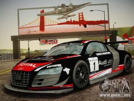 Audi R8 LMS Ultra W-Racing Team Vinyls para la visión correcta GTA San Andreas