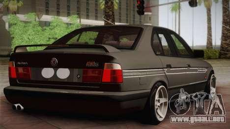BMW E34 Alpina B10 para GTA San Andreas vista posterior izquierda