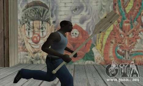 The wooden paddle para GTA San Andreas tercera pantalla