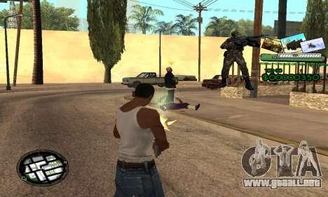 C-HUD Army Troops para GTA San Andreas tercera pantalla