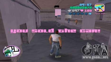 Venta ilegal de automóviles para GTA Vice City