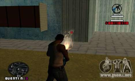 C-HUD Quentin para GTA San Andreas tercera pantalla