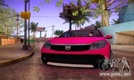 Dacia Sandero para GTA San Andreas vista hacia atrás