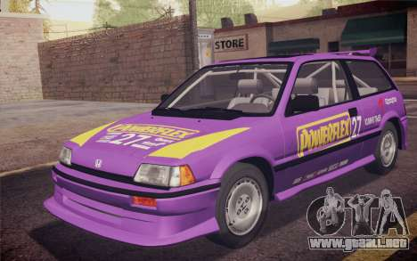 Honda Civic S 1986 IVF para GTA San Andreas interior