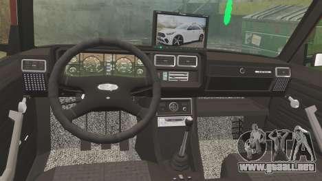 VAZ-2107 Donk Estilo para GTA 4 vista lateral