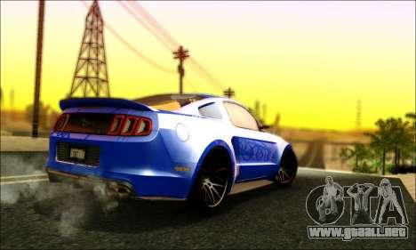 Ford Mustang GT 2013 v2 para la visión correcta GTA San Andreas