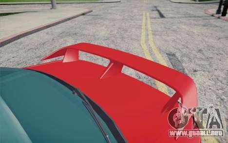 Nissan Silvia S15 BN Sports para GTA San Andreas vista hacia atrás