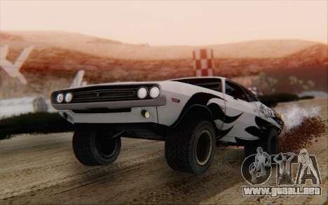 Dodge Challenger 1971 Aftermix para GTA San Andreas left