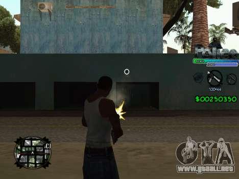 C-HUD by Powwer para GTA San Andreas tercera pantalla