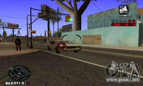 C-HUD Quentin para GTA San Andreas sexta pantalla
