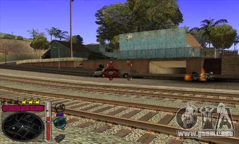 C-HUD by Andy Cardozo para GTA San Andreas quinta pantalla