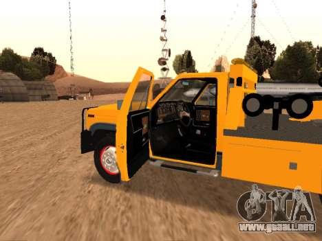 Ford F-250 para visión interna GTA San Andreas