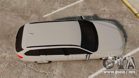 BMW 330d Touring (F31) 2014 Unmarked Police ELS para GTA 4 visión correcta