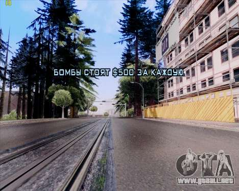 ENB HD CUDA 2014 v.3.5 Final para GTA San Andreas octavo de pantalla