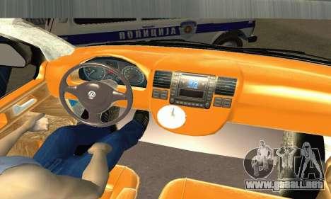 Volkswagen Transporter Policie para la visión correcta GTA San Andreas