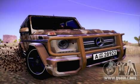 Mercedes Benz G65 Army Style para GTA San Andreas left