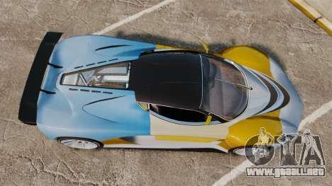 GTA V Grotti Turismo R para GTA 4 visión correcta