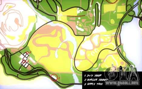 Mochila 2.0 para GTA San Andreas sexta pantalla