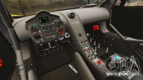 McLaren MP4-12C GT3 (Updated) para GTA 4 vista lateral