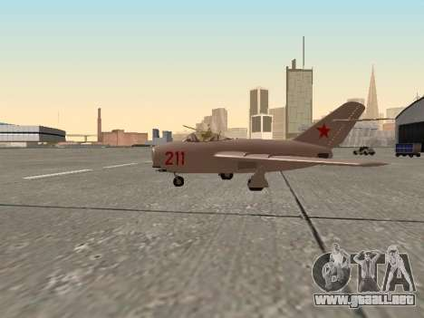 MiG 15 Bis para GTA San Andreas left