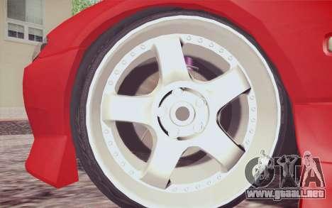 Nissan Silvia S15 BN Sports para GTA San Andreas vista posterior izquierda