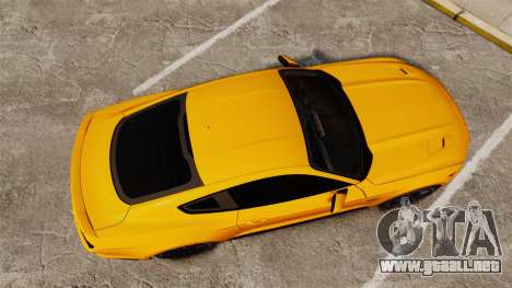 Ford Mustang GT 2015 v2.0 para GTA 4 visión correcta
