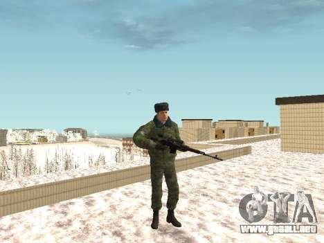 Militar en el uniforme de invierno para GTA San Andreas sucesivamente de pantalla